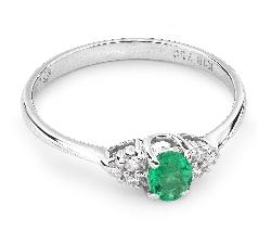 """Auksinis žiedas su Brangakmeniais """"Smaragdas 12"""""""