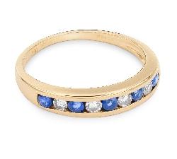 """Auksinis žiedas su Brangakmeniais """"Safyras 12"""""""