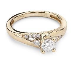"""Auksinis žiedas su Briliantais """"Gyvybė 20"""""""