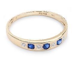 """Auksinis žiedas su Brangakmeniais """"Safyras 15"""""""