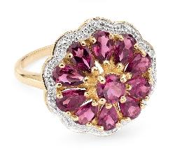 """Auksinis žiedas su Brangakmeniais """"Spalvos 26"""""""