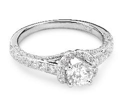 """Auksinis žiedas su Briliantais """"Karūna 14"""""""
