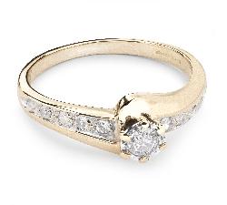 """Auksinis žiedas su Briliantais """"Gyvybė 21"""""""