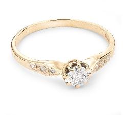 """Auksinis žiedas su Briliantais """"Mylimasis 33"""""""