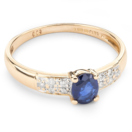 """Auksinis žiedas su Brangakmeniais """"Safyras 17"""""""