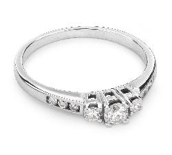 """Sužadėtuvių žiedas su Briliantais """"Trilogija 10"""""""