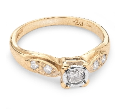 "Engagment ring with brilliants ""Lover 38"""