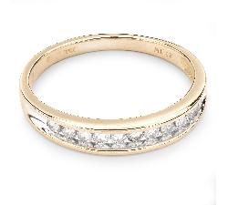 """Auksinis žiedas su Briliantais """"Deimantinė Juostelė 23"""""""