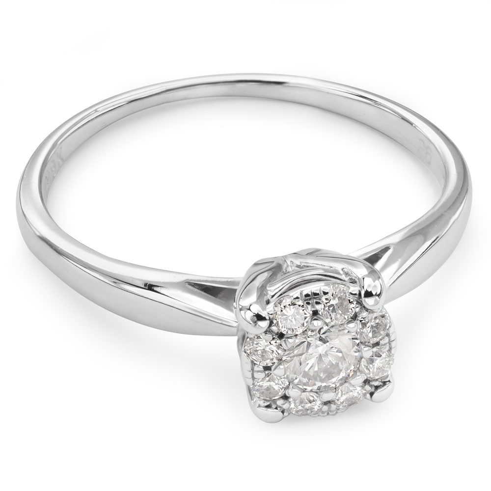 """Engagment ring with brilliants """"Bouquet of diamonds 27"""""""