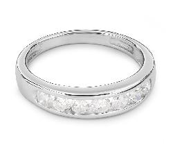 "Gold ring with brilliants ""Diamond strip 24"""