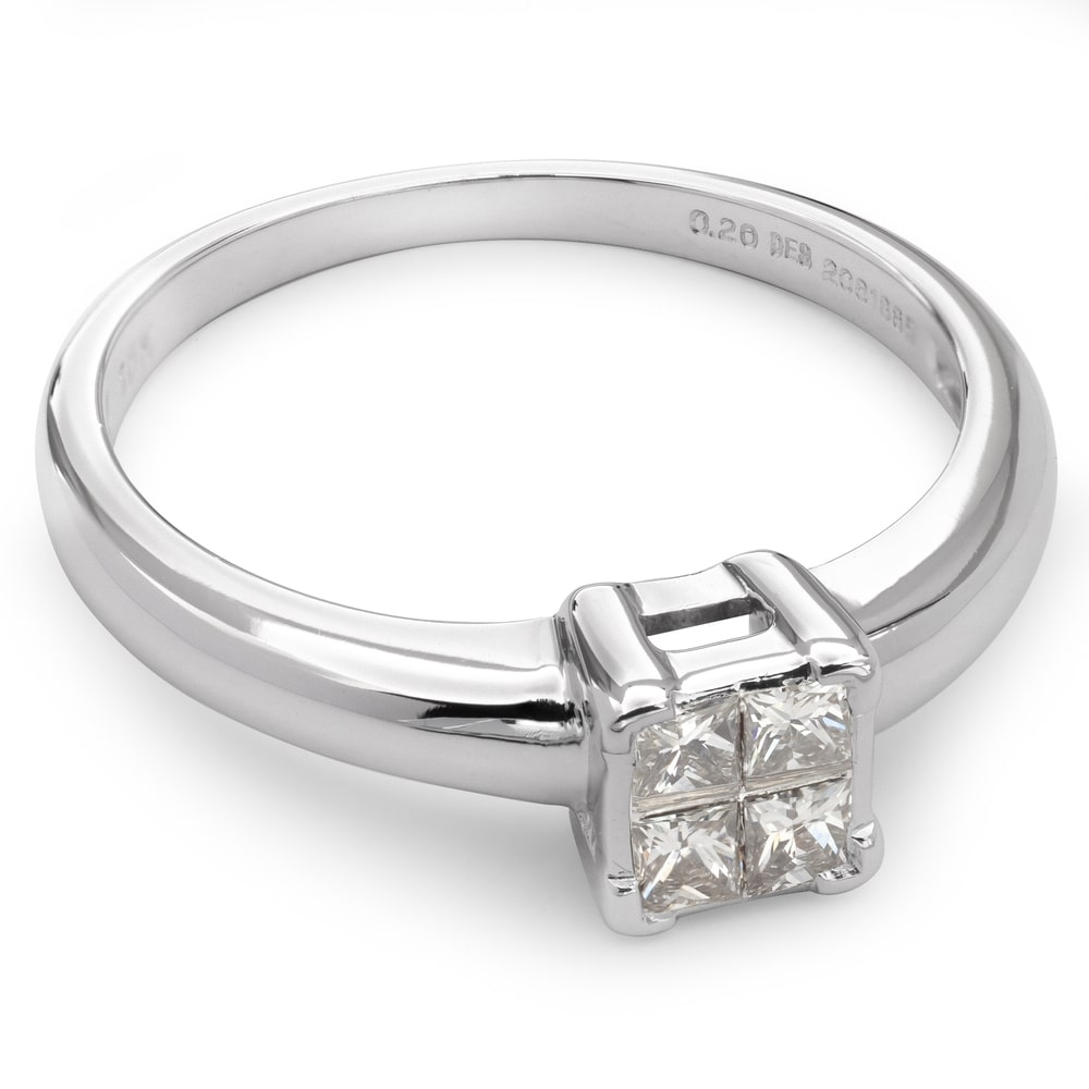 """Engagement ring with diamond """"Princesses 36"""""""
