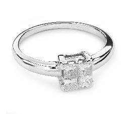 "Engagement ring with diamonds ""Princesses 37"""