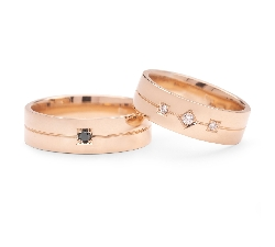 "Golden wedding rings with diamonds ""VMA 136-2"""