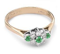 """Auksinis žiedas su Brangakmeniais """"Smaragdas 13"""""""