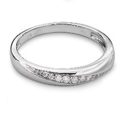 """Auksinis žiedas su Briliantais """"Deimantinė Juostelė 25"""""""