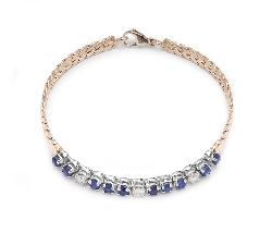 "Gold bracelet with gemstones ""Sapphire 22"""
