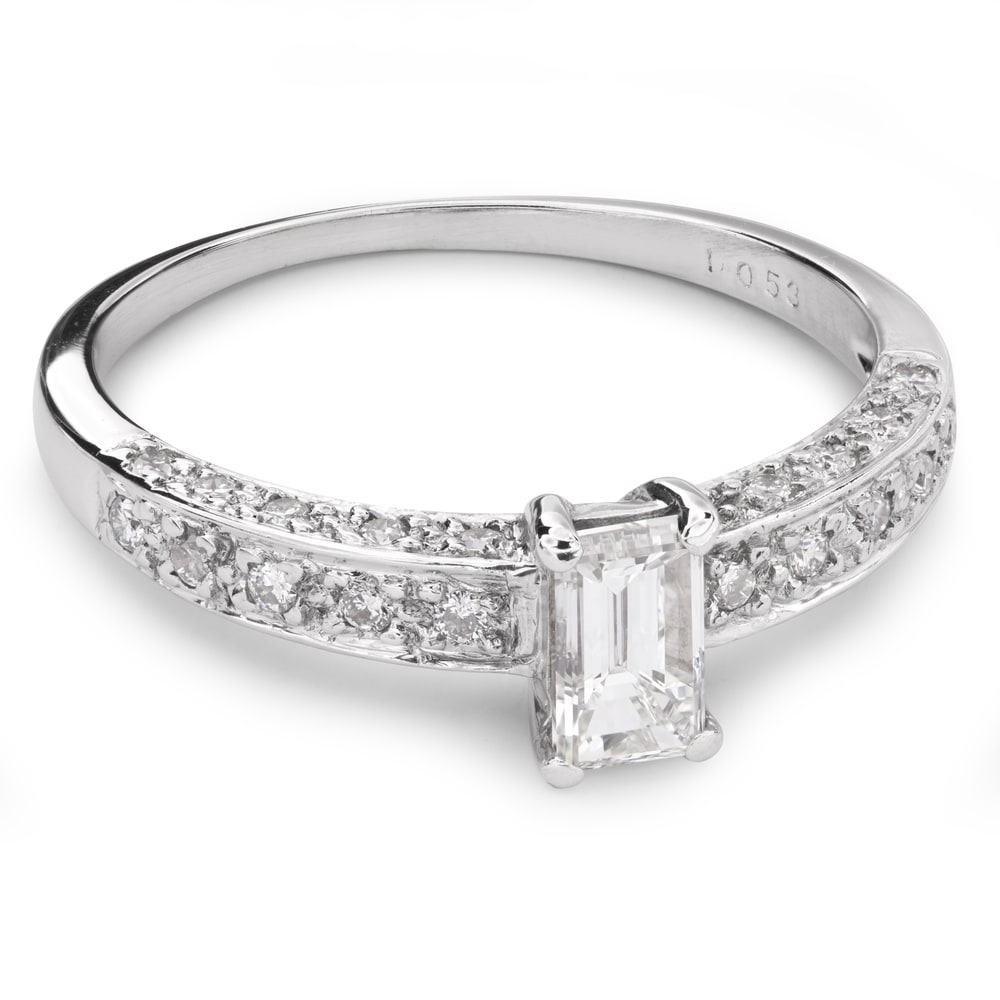 """Engagement ring with diamonds """"Crown 16"""""""