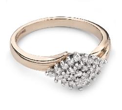 """Auksinis žiedas su Briliantais """"Briliantų Puokštė 29"""""""