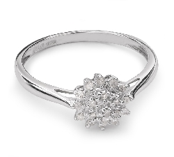 """Auksinis žiedas su Briliantais """"Briliantinė Gėlė 23"""""""
