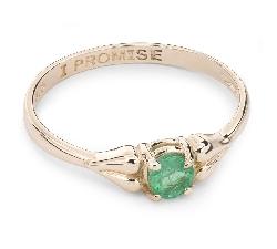 """Auksinis žiedas su Brangakmeniais """"Smaragdas 15"""""""