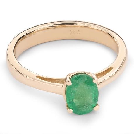 """Auksinis žiedas su Brangakmeniais """"Smaragdas 16"""""""