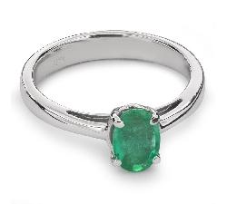 """Auksinis žiedas su Brangakmeniais """"Smaragdas 17"""""""