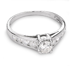 """Engagment ring with brilliants """"Grace 68"""""""