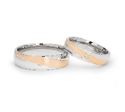 "Golden wedding rings with diamonds ""VKA 099"""