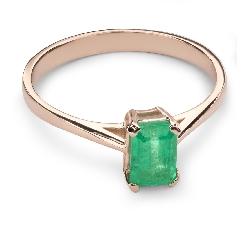 """Auksinis žiedas su Brangakmeniais """"Smaragdas 18"""""""