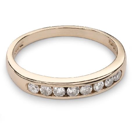 """Auksinis žiedas su Briliantais """"Deimantinė Juostelė 28"""""""