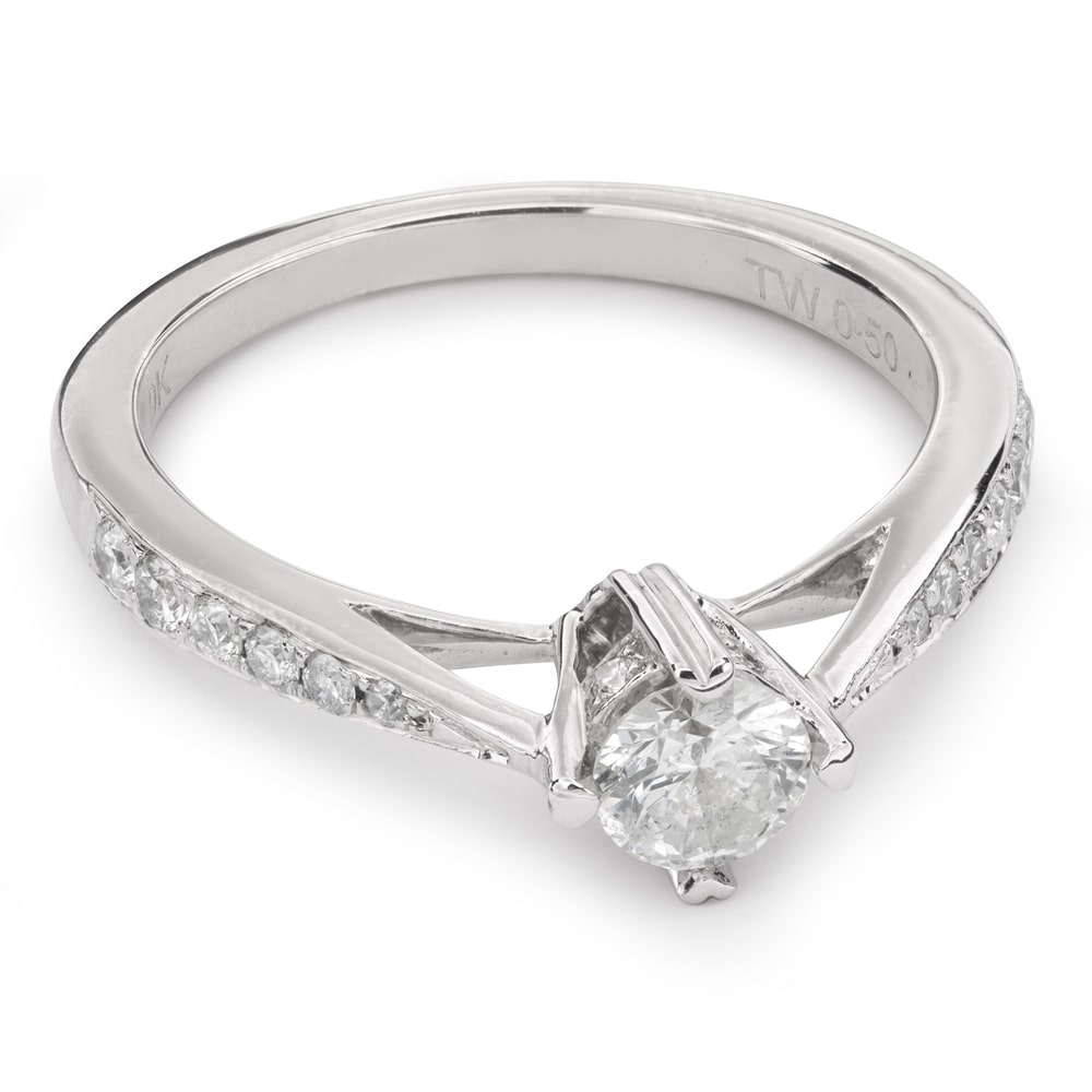 """Engagment ring with brilliants """"Grace 72"""""""