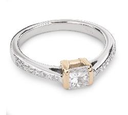 """Auksinis žiedas su Deimantais """"Princesė 31"""""""