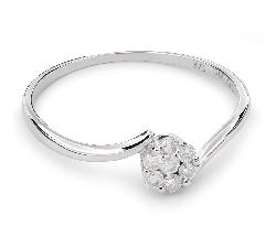 """Auksinis žiedas su Deimantais """"Briliantinė Gėlė 25"""""""