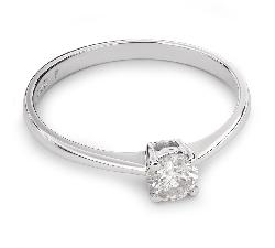 """Auksinis žiedas su Deimantu """"Tvirtybė 65"""""""