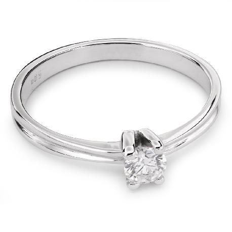 """Auksinis žiedas su Deimantu """"Susipynę Likimai 24"""""""