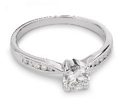 """Auksinis žiedas su Deimantais """"Grakštumas 73"""""""