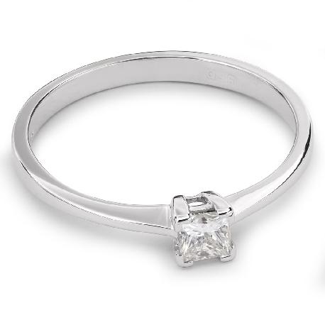 """Auksinis žiedas su Deimantu """"Princesė 33"""""""