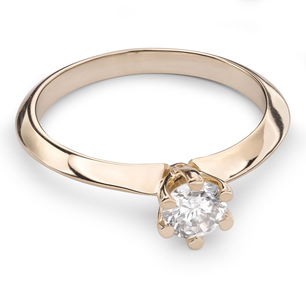 """Engagement ring with brilliant """"The queen 20"""""""