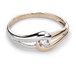 """Auksinis žiedas su Briliantu """"Meilės Glėbyje 16"""""""