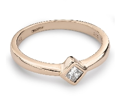 """Auksinis žiedas su Deimantu """"Princesė 35"""""""