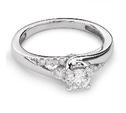 """Auksinis žiedas su Briliantais """"Grakštumas 76"""""""