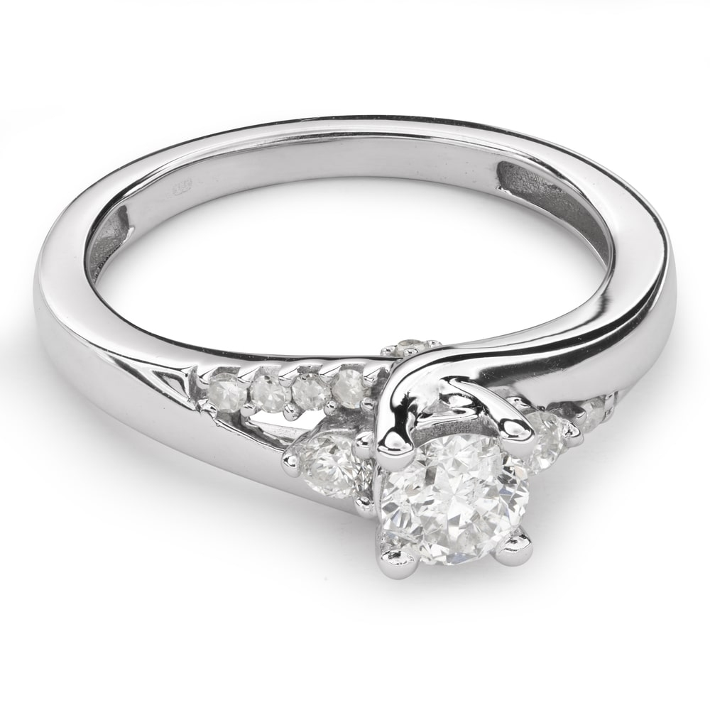 """Engagment ring with brilliants """"Grace 78"""""""