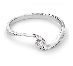 """Auksinis žiedas su Briliantu """"Meilės Glėbyje 24"""""""
