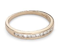 """Auksinis žiedas su Briliantais """"Deimantinė Juostelė 30"""""""