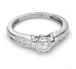 "Engagment ring with brilliants ""Grace 79"""