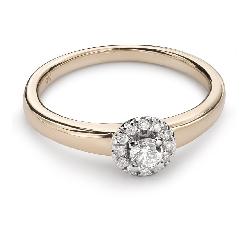 """Auksinis žiedas su Briliantais """"Briliantinė Gėlė 26"""""""