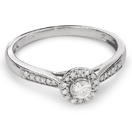 """Auksinis žiedas su Briliantais """"Briliantų Puokštė 30"""""""