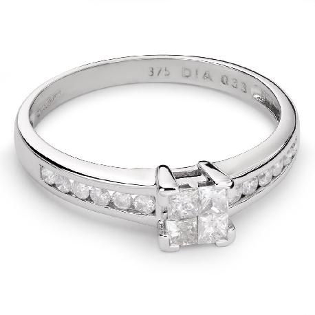 """Auksinis žiedas su Deimantais """"Princesės 41"""""""