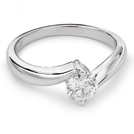 """Auksinis žiedas su Briliantu """"Meilės Glėbyje 25"""""""