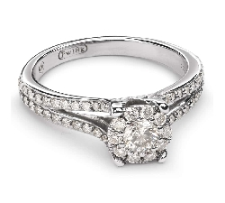 "Engagment ring with brilliants ""Bouquet of diamonds 31"""